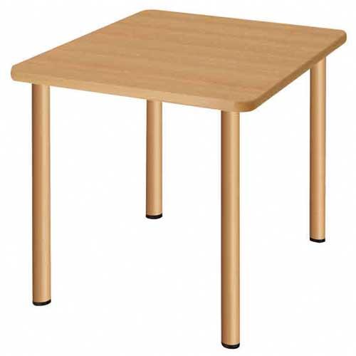 ダイニングテーブル 幅900×奥行900×高さ700mm 正方形 ナチュラル ウォールナット 天然木 食卓 おしゃれ 食堂テーブル 介護施設 老人ホーム テーブル UFT-S0909 ルキット オフィス家具 インテリア