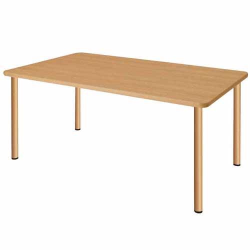 【法人限定】 ダイニングテーブル 幅1600×奥行900×高さ700mm ナチュラル ウォールナット 天然木 食卓 食堂テーブル 介護施設 老人ホーム テーブル UFT-S1690 LOOKIT オフィス家具 インテリア