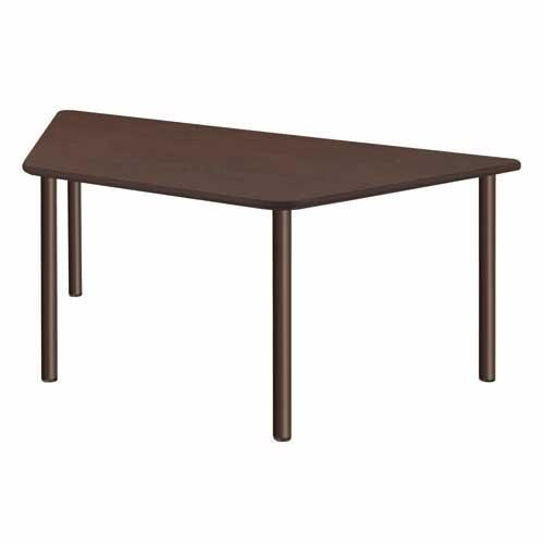 ダイニングテーブル 幅1800×奥行780×高さ700mm 台形 ナチュラル ウォールナット 天然木 食卓 おしゃれ 食堂テーブル 介護施設 老人ホーム テーブル UFT-S9018 ルキット オフィス家具 インテリア