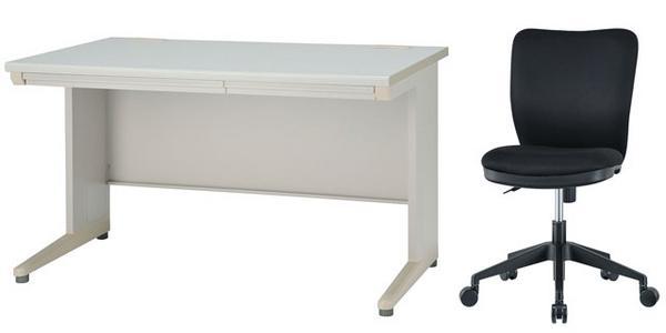 【法人限定】 デスク チェアセット 平机 W1200mm 幅120cm ワークデスク 事務用 学習机 書斎机 椅子イス テーブル ニューグレー色 オフィス家具 IDH-127CSC-2 ルキット オフィス家具 インテリア