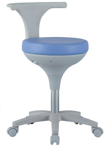 【法人限定】 スツール 背付き キャスター付き ブルー 丸椅子 チェア 丸いす 病院 いす オフィスチェア 合皮 レザー 事務用椅子 CCM-01 ルキット オフィス家具 インテリア