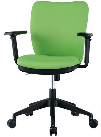 チェア 可動肘付 キャスター付 布張り 4色 オレンジ ブラック ライム ブルー 回転イス オフィスチェア 椅子 OC-102M ルキット オフィス家具 インテリア