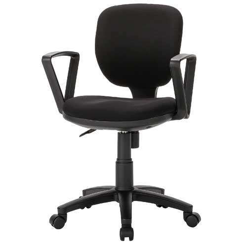 【法人限定】 オフィスチェア 肘付き 布張り レザー張り デスクチェア パソコンチェア 肘付きチェア チェア いす オフィス家具 会社 事務所 BRU-13AT