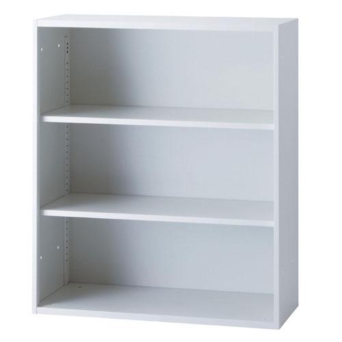 オープン書庫 幅900mm 奥行400mm 高さ1050mm 書棚 本棚 棚板可動 オープンラック フリーラック ホワイト ファイル キャビネット スチール書庫 ICS-0910F