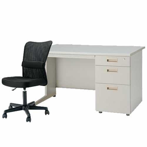 デスク チェアセット 片袖机 W1200mm 幅120cm ワークデスク 事務用 学習机 書斎机 椅子 イス テーブル ニューグレー色 オフィス家具 IDS-127-3SC-4 ルキット オフィス家具 インテリア