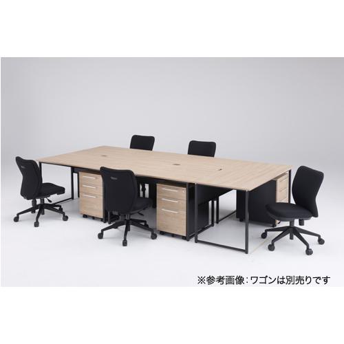 【法人限定】 オフィスデスクセット 5人用 平机 オフィスチェア チェアセット オフィス家具セット デスクチェアセット 事務所 SFD-SC
