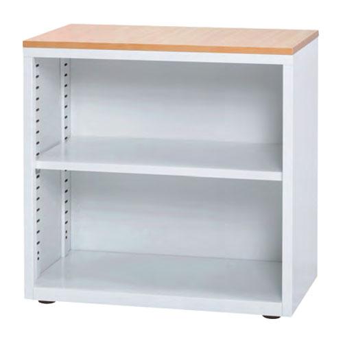 オープン書庫 幅700mm 奥行400mm 高さ700mm 棚板 可動棚 A4 A5 ファイル対応 スチール製 木製天板 ホワイト コンパクト キャビネット オフィス 収納 SOC-0707