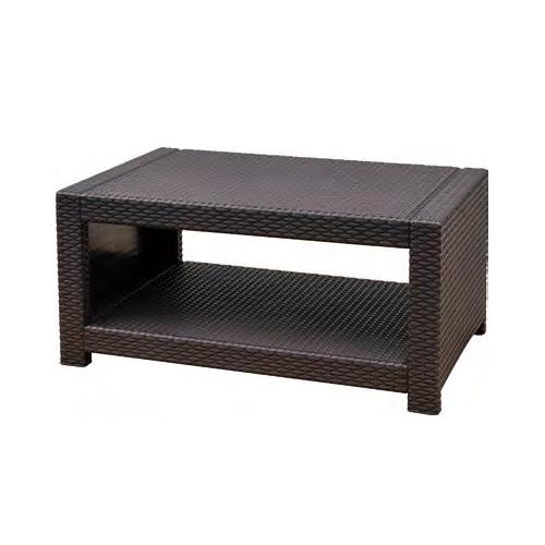 センターテーブル ラタン調 樹脂製テーブル ローテーブル 軽量テーブル ガーデンテーブル オフィス家具 打ち合わせスペース ミーティングスペース TAN-3T