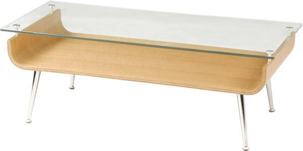センターテーブル NET-301 ガラステーブル 棚付き