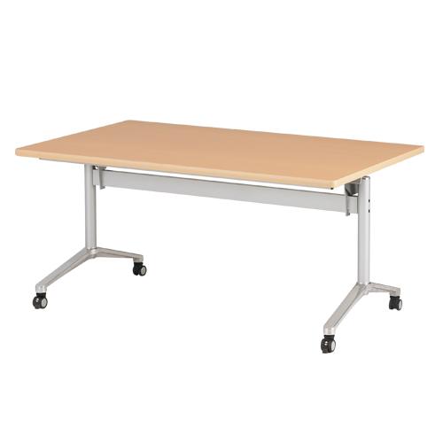 フォールディングテーブル 幅1500×奥行900mm キャスター付き アジャスター ミーティングテーブル アルミ脚 折畳み会議テーブル ACT-1590 ルキット オフィス家具 インテリア