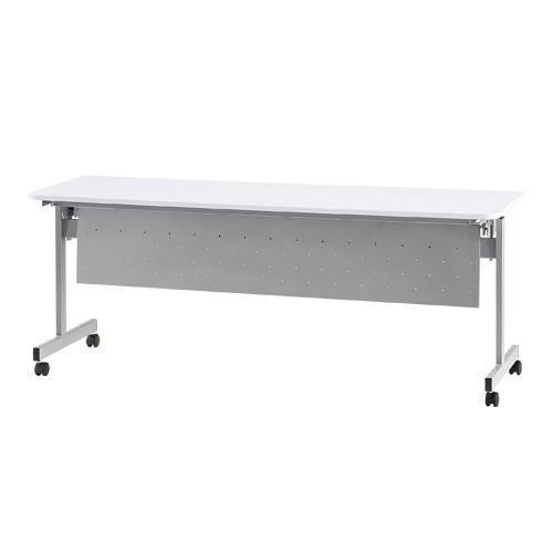 フォールディングテーブル パネル付 ミーティング ホワイト 白 幅180cm テーブル スタッキング スタック 事務所 会議 会議用 長つくえ HSV-1860P LOOKIT オフィス家具 インテリア