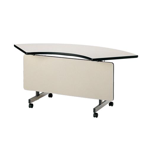 フォールディングテーブル コーナー用 パネル付 コーナーテーブル 幕板付き 会議室 収納 折畳み 会議用 施設 オフィス ミーティング 学校 TX-60CP LOOKIT オフィス家具 インテリア