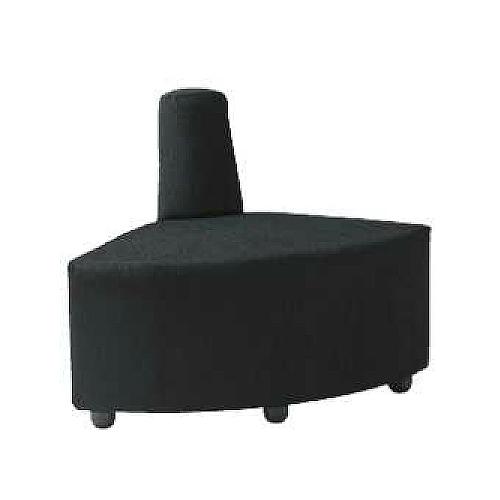 【10/15限定最大10000円OFFクーポン配布】 ロビーチェア 1人用 1人掛け 布張り 内コーナー 扇型 出隅 円形 コンパクト オフィス ソファ 椅子 チェア アームチェア エントランス 待合スペース DLC-R30