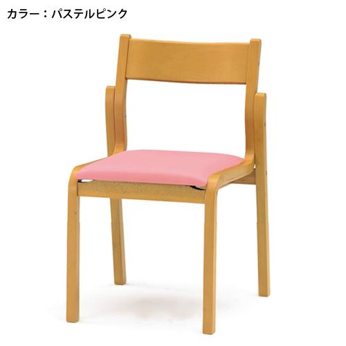 ダイニングチェア スタッキングチェア 積み重ね 背付 病院 学校 福祉施設 激安 合成皮革 ミーティングチェア 椅子 木製 PVCレザー 施設 木製 FKB-4L ルキット オフィス家具 インテリア