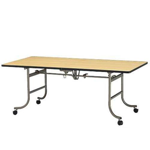 レセプションテーブル 長テーブル 長机 角型 長方形 スクエア テーブル 机 作業台 受付テーブル ダイニングテーブル 会議テーブル 施設 ホテル FRN-1845
