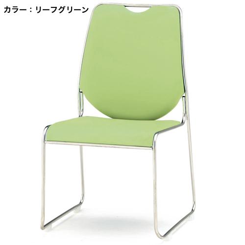 スタッキングチェア 4脚セット ビニールレザー 合成皮革 ハイバック 積み重ね スタック 連結 会議椅子 事務所 レセプション用 シンプル FSC-50LS ルキット オフィス家具 インテリア
