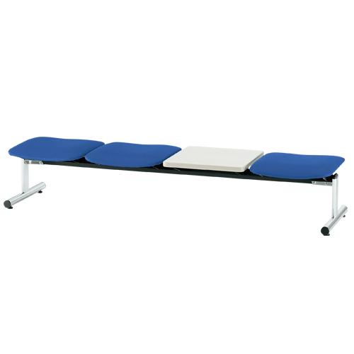 【法人限定】ロビーチェア 3人用 ベンチ テーブル付き 抗菌 防汚 シンプル カラフル 椅子 チェア ロビー オフィス FSL-3NTL