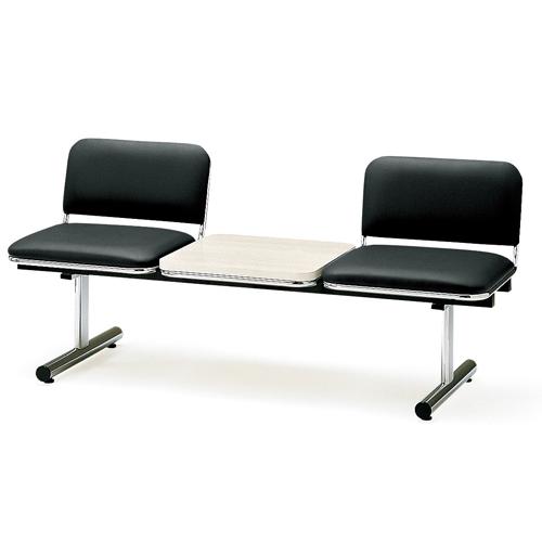 【全品P5倍6/10 13時~17時&最大1万円クーポン6/11 2時まで】ロビーチェア 2人用 ベンチ テーブル付き 抗菌 防汚 シンプル カラフル 椅子 チェア ロビー オフィス FTL-2TL