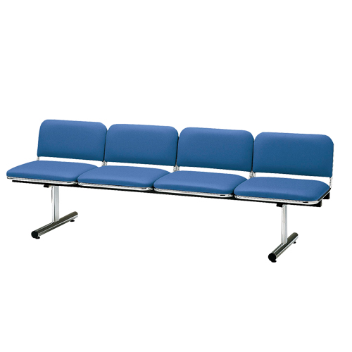 ロビーチェア 4人用 ベンチ 抗菌 防汚 シンプル カラフル 椅子 チェア ロビー オフィス FTL-4L