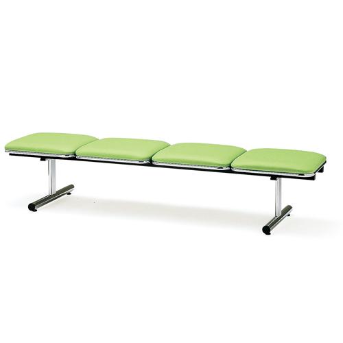 【法人限定】ロビーチェア 4人用 ベンチ 抗菌 防汚 シンプル カラフル 椅子 チェア ロビー オフィス FTL-4NL