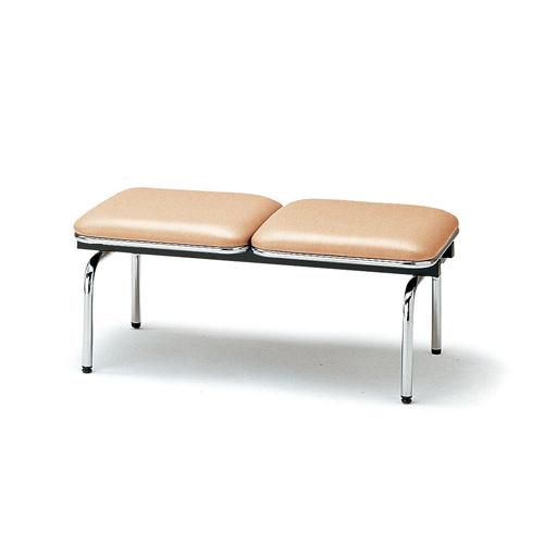 【全品P5倍6/10 13時~17時&最大1万円クーポン6/11 2時まで】ロビーチェア 2人用 ベンチ 抗菌 防汚 シンプル カラフル 椅子 チェア ロビー オフィス FUL-2NL