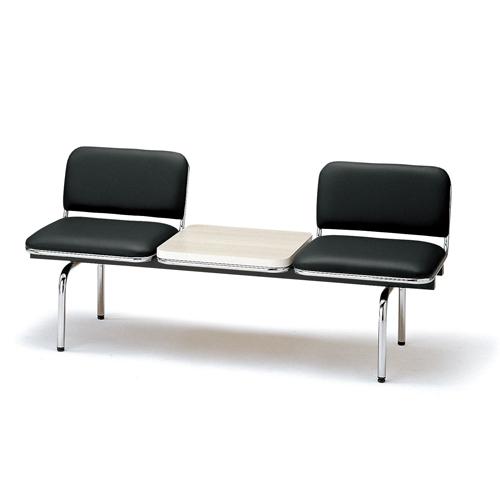 【全品P5倍6/10 13時~17時&最大1万円クーポン6/11 2時まで】ロビーチェア 2人用 ベンチ テーブル付き 抗菌 防汚 シンプル カラフル 椅子 チェア ロビー オフィス FUL-2TL