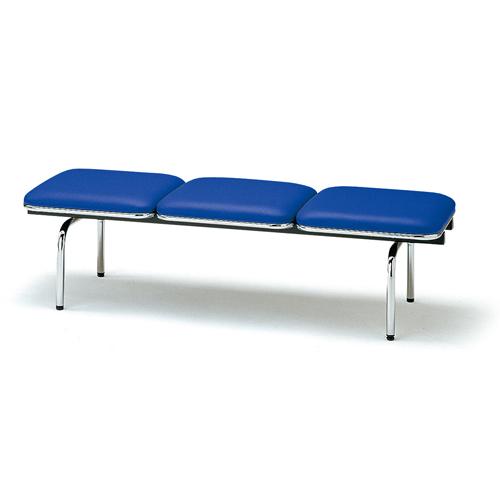 ロビーチェア 3人用 ベンチ 抗菌 防汚 シンプル カラフル 椅子 チェア ロビー オフィス FUL-3NL