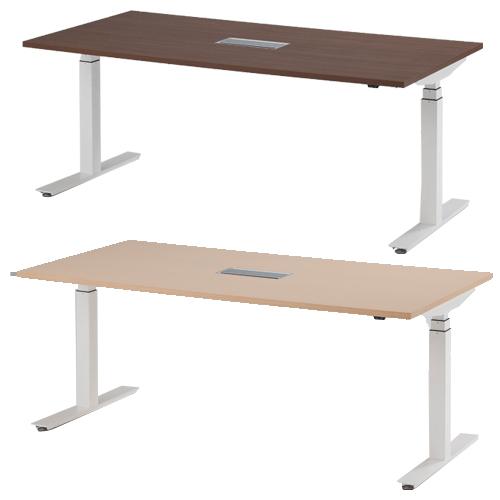 ミーティングテーブル オフィス家具 電動昇降テーブル 高さ調整 会議 伸縮 ワークスタイル パソコンデスク 上下昇降 オフィステーブル オフィス FWD-1890