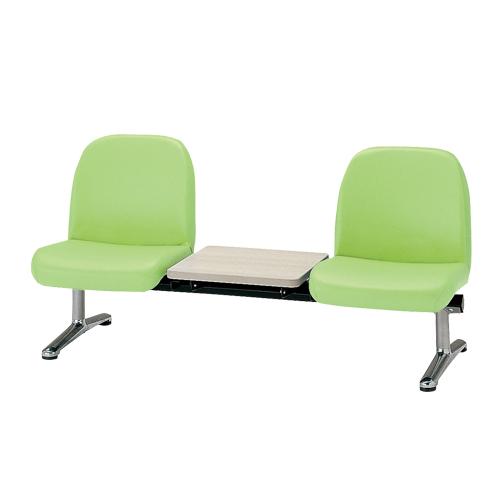 ロビーチェア 2人用 ベンチ テーブル付き 抗菌 防汚 カラフル 椅子 チェア ロビー オフィス LA-2TL