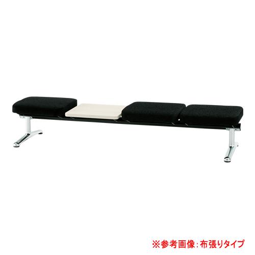 ロビーチェア 3人用 ベンチ テーブル付き 抗菌 防汚 シンプル カラフル 椅子 チェア ロビー オフィス LA-3NTL