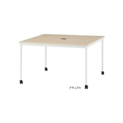 ミーティングテーブル キャスター付きテーブル 正方形テーブル 角型テーブル オフィステーブル 会議テーブル オフィス家具 テーブル つくえ RM-1200C