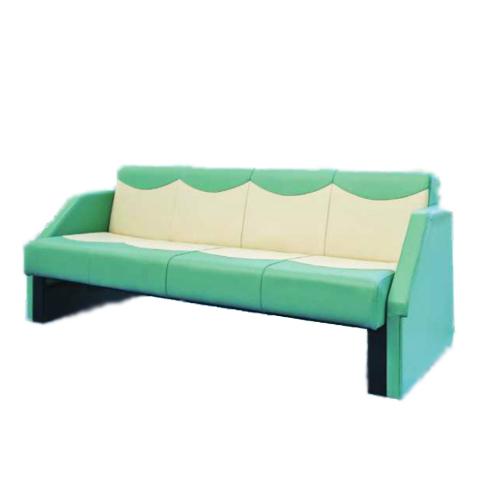 ソファベッド ベッド 簡易ベッド カラフル ポップ ロングソファ 4人掛け ビニールレザー張り 長椅子 ベンチ 椅子 チェア フルフラット おしゃれ SF-1970