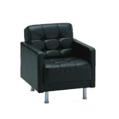 ロビーチェア アームチェア ソファー 接客用 椅子 イス いす 1人掛け パーソナルチェア 応接室 ラウンジ ロビー 高級 黒 合皮 ローソファー ブラック SF-700