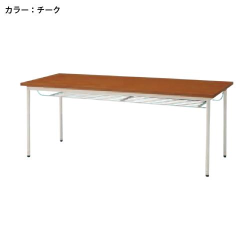 ミーティングテーブル 棚付 丸脚 ラウンジ TD-T1890TM LOOKIT オフィス家具 インテリア