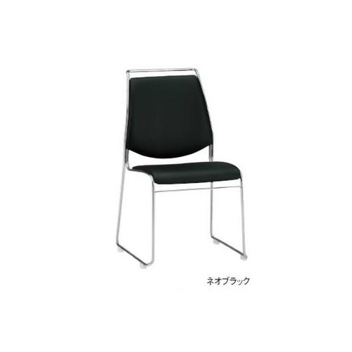 【全品P5倍6/10 13時~17時&最大1万円クーポン6/11 2時まで】スタッキングチェア ビニールレザー張り オフィス家具 会議チェア ミーティングチェア 会議室 施設 チェア 椅子 肘なし 固定脚 FSC-M55L-S