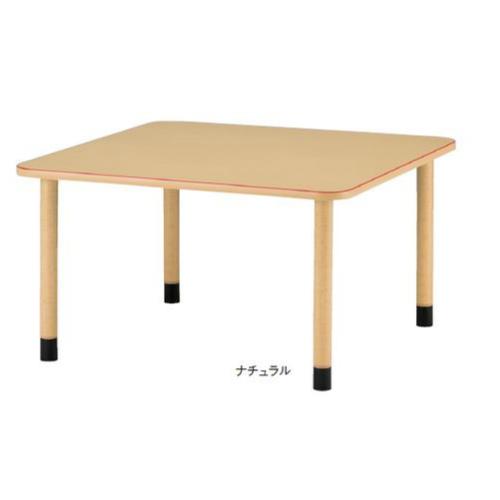 福祉施設向けテーブル 送料無料 アジャスタータイプ 角型 幅1200×奥行1200mm 正方形テーブル 高さ調節テーブル ダイニングテーブル MKV-1212