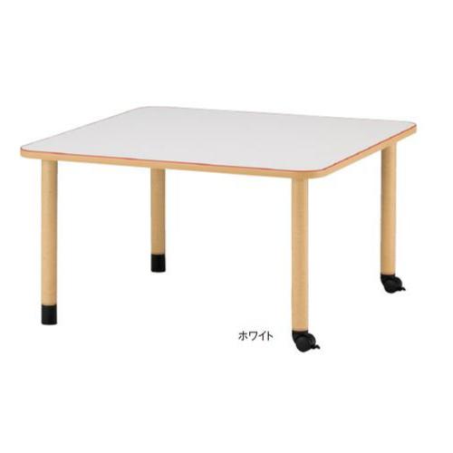 福祉施設向けテーブル 送料無料 キャスタータイプ 角型 幅1200×奥行1200mm ダイニングテーブル ワークテーブル 老人ホーム 病院 MKV-1212C