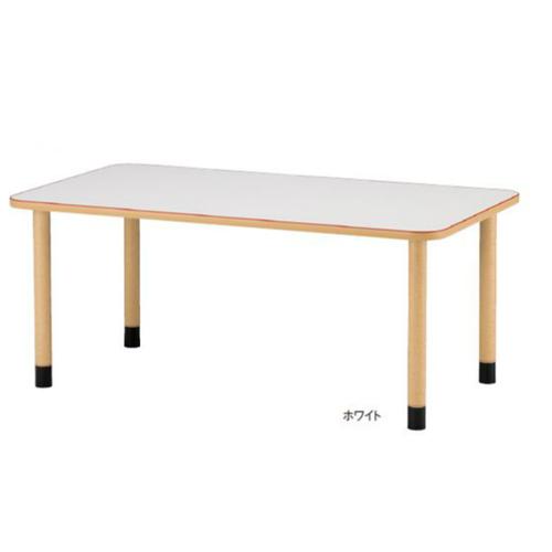 福祉施設向けテーブル 送料無料 アジャスタータイプ 角型 幅1600×奥行900mm ワークテーブル 福祉テーブル ダイニングテーブル 老人ホーム MKV-1690
