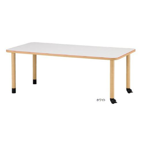 福祉施設向けテーブル 送料無料 キャスタータイプ 幅1800×奥行900mm 角型 ワークテーブル ダイニングテーブル キャスター付きテーブル MKV-1890C