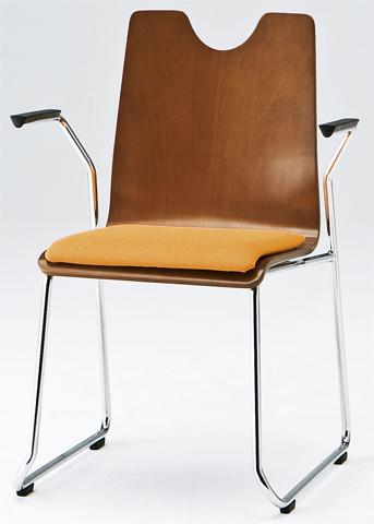 【全品P5倍6/10 13時~17時&最大1万円クーポン6/11 2時まで】スタッキングチェア RMH-2A 肘付き ループ脚 椅子