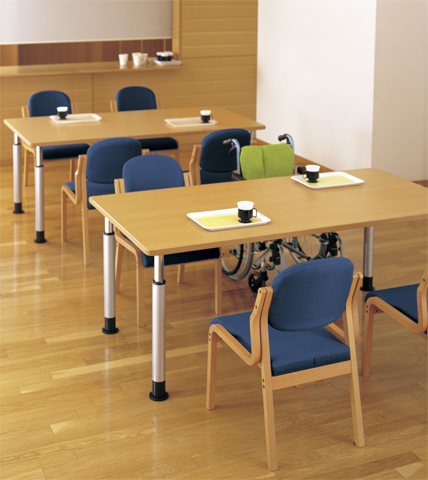 ダイニングテーブル MKT-1890 高さ調節可能 作業台