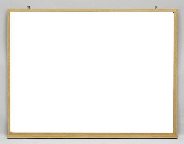 ホワイトボード MOKU-F609 木目枠 壁掛タイプ 無地 LOOKIT オフィス家具 インテリア
