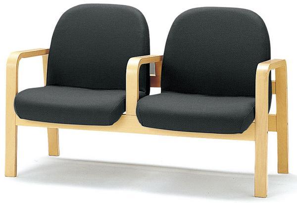 ロビーチェア LW-2A 2人用 病院 診療所 クリニック ルキット オフィス家具 インテリア