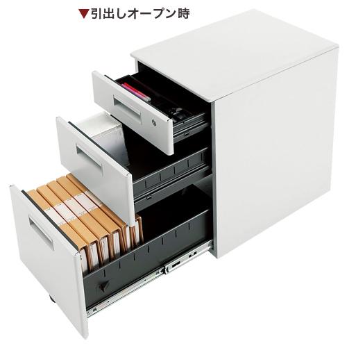 ワゴン オフィス 3段 平机用 サイドワゴン FTW-3 LOOKIT オフィス家具 インテリア