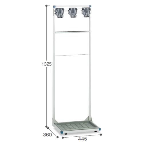 モップハンガー 3本掛 掃除道具入 CE-492-013-0 LOOKIT オフィス家具 インテリア