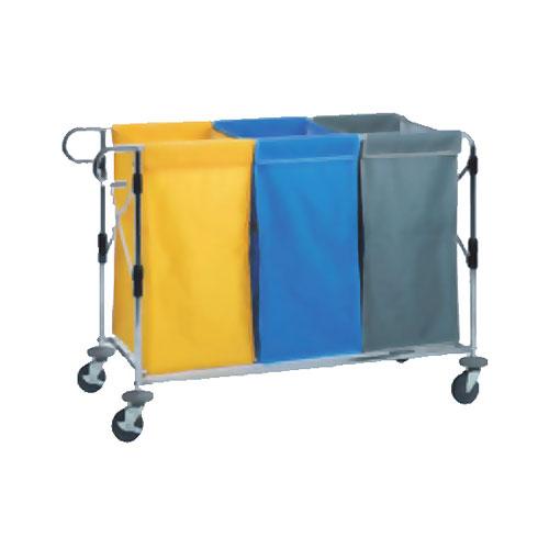 多分別回収カートセット 回収袋付き DS-579-050-3 LOOKIT オフィス家具 インテリア