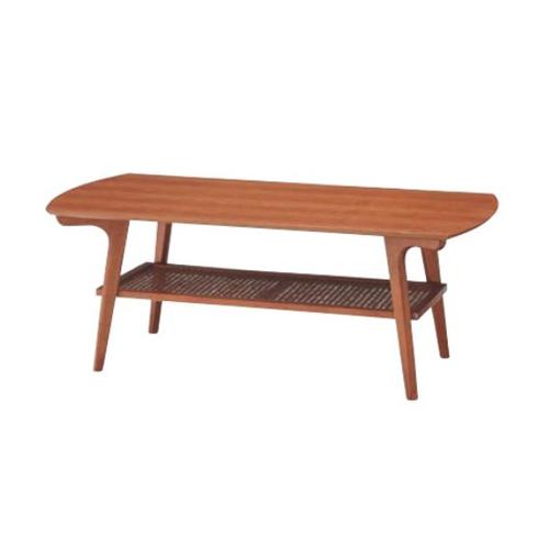 センターテーブル ローテーブル 木製テーブル 天然木テーブル リビングテーブル 棚付きテーブル 収納付き リビング家具 ノルディナ NOR-101