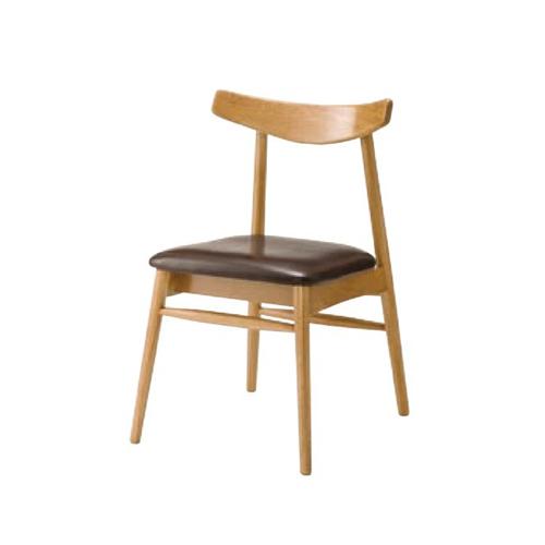 ダイニングチェア 木製チェア 食卓用チェア 肘なしチェア 木製フレーム 天然木 ナチュラル 本革張り 北欧 おしゃれ チェア 椅子 NYC-622