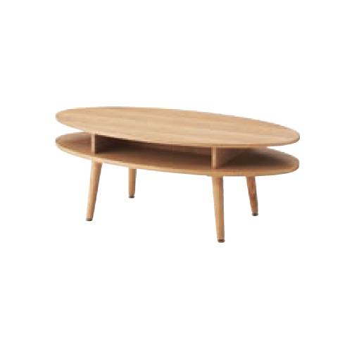センターテーブル 楕円 ローテーブル リビングテーブル コーヒーテーブル 棚付きテーブル リビング 居間 シンプル オーバルテーブル NYT-762