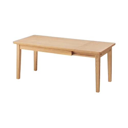 センターテーブル 伸縮 伸長式テーブル ローテーブル リビングテーブル 天然木テーブル リビング エクステンションセンターテーブル NYT-763